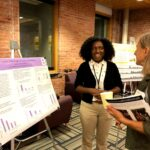 Portia Bharath presenting her summer research